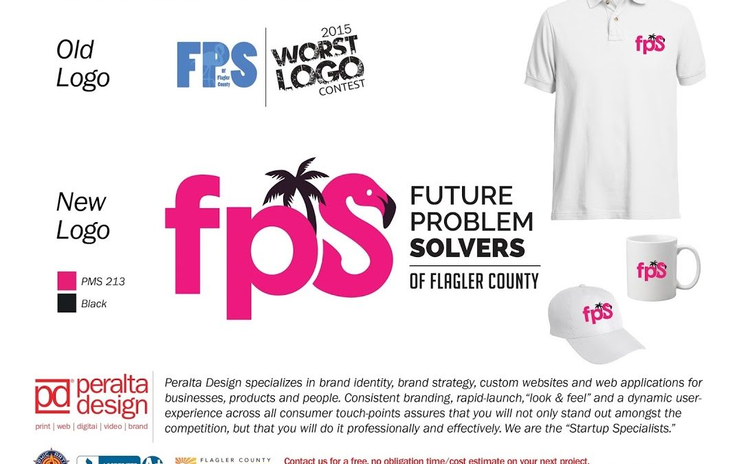 Peralta Design Reveals The New Logo For The Future Problem Solvers Of Flagler County At Entrepreneur Night!